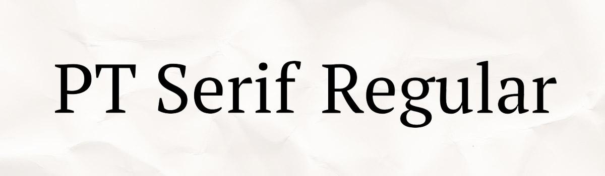 Immagine del font PT Serif