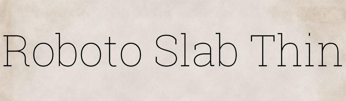 Immagine del font Roboto Slab