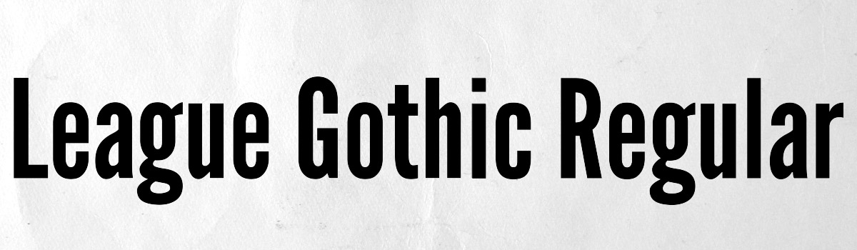 Immagine del font League Gothic