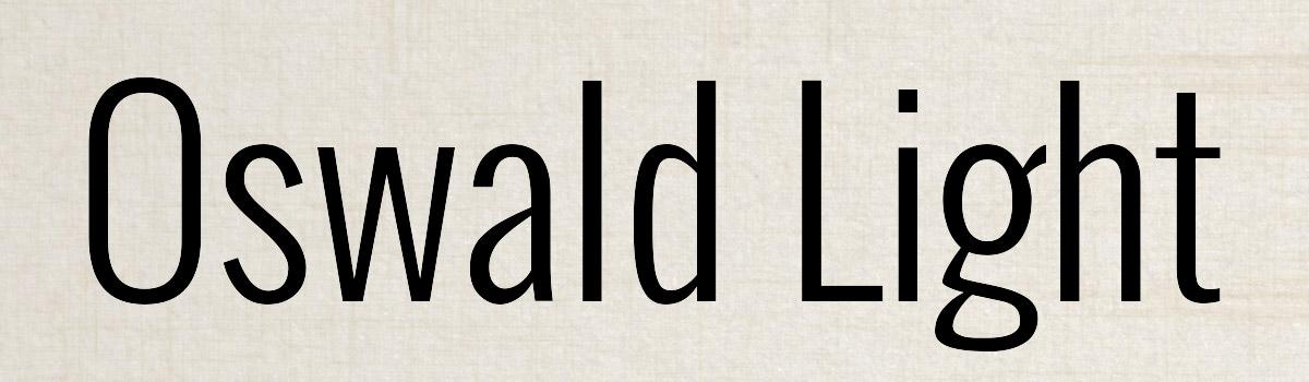Immagine del font Oswald