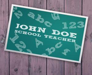 Template del secondo biglietto da visita per insegnanti