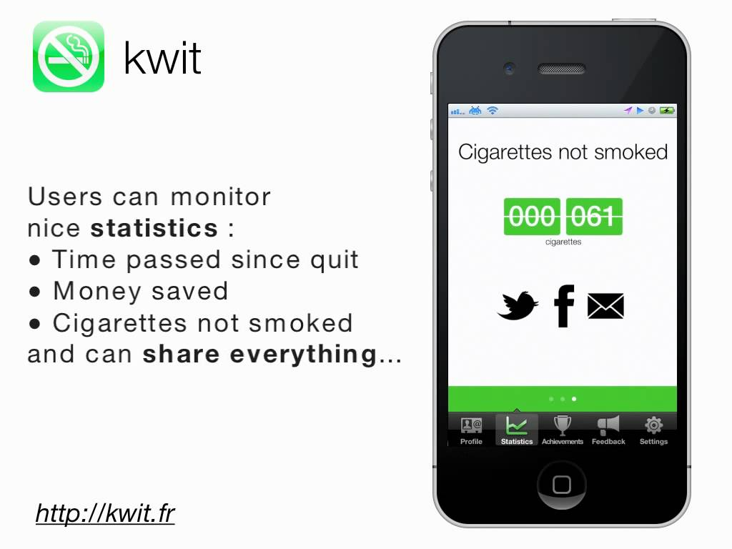 Schermata dell'app Kwit: Stop Smoking Cigarettes per Android