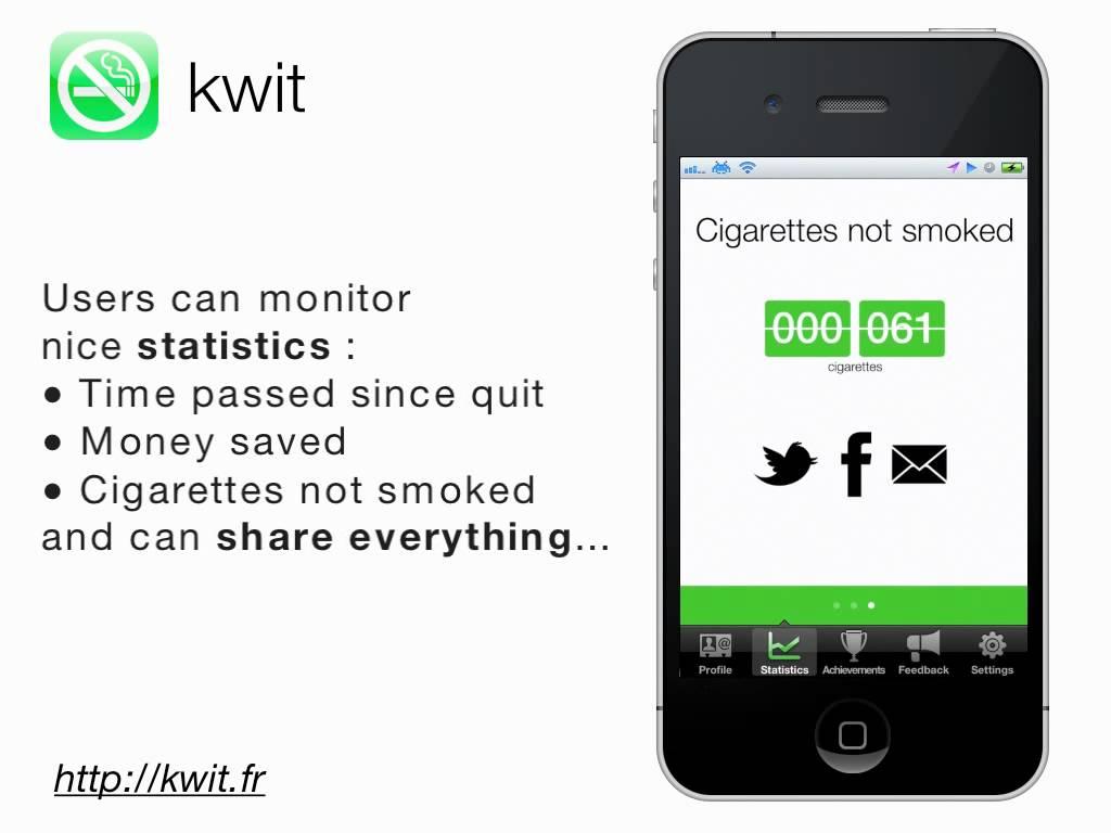 Schermata dell'app Kwit: Stop Smoking Cigarettes per Android