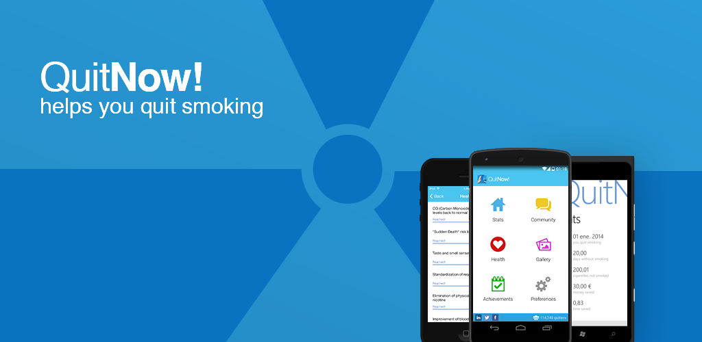 Schermata dell'app Quit Smoking – QuitNow! per Android