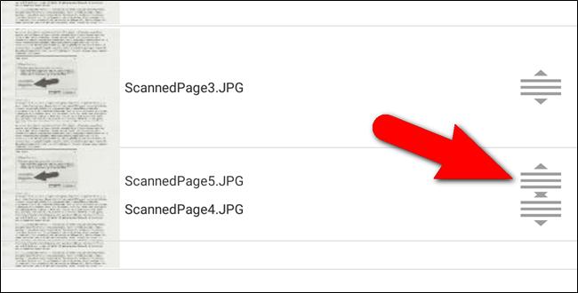 Icone per ordinare manualmente le immagini