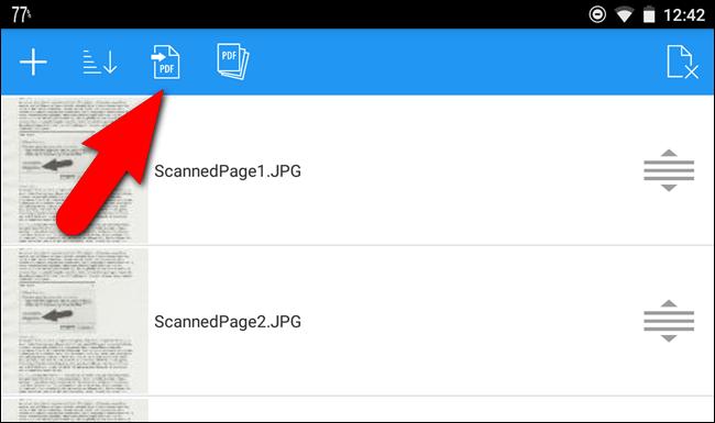 Pulsante PDF
