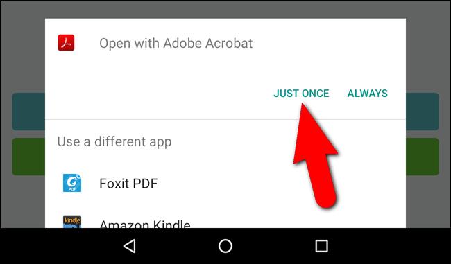 Scelta dell'app per aprire il file PDF