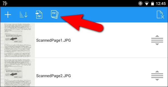 Pulsante per rinominare il PDF