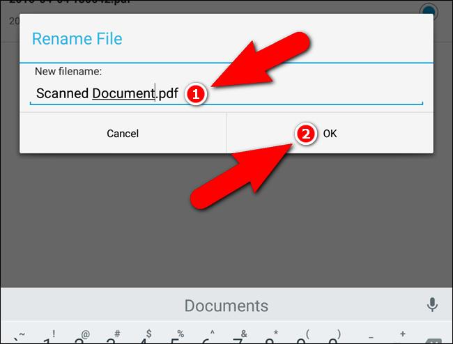 Rinominare il file PDF