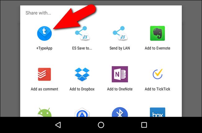 Lista delle app per condividere il PDF creato con Android