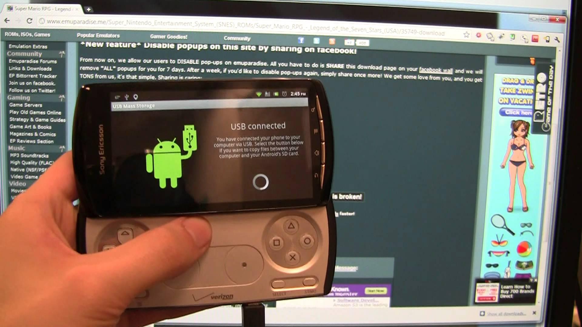 Schermata dell'emulatore Android Emulator