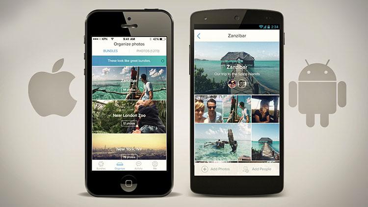App per la gestione di foto su Android e iOS