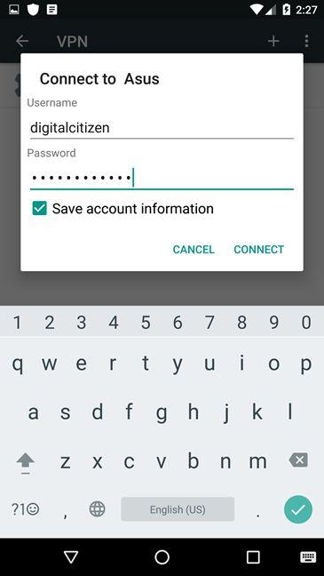Connettersi ad una rete VPN su Android - Connettersi