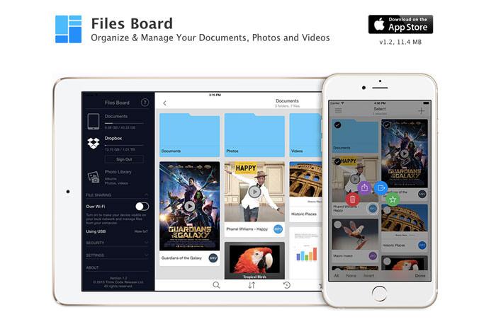Gestire foto su Android e iOS con FilesBoard