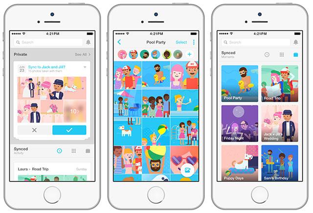 Gestire foto su Android e iOS con Moments