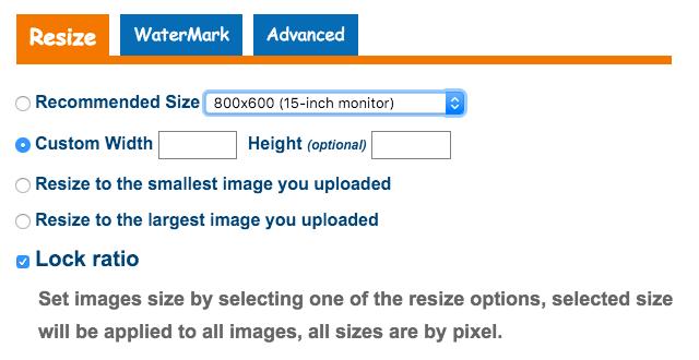 Ridimensionare più immagini gratis con PicGhost
