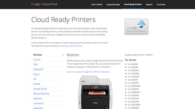 Registrare la stampante su Google Cloud Print