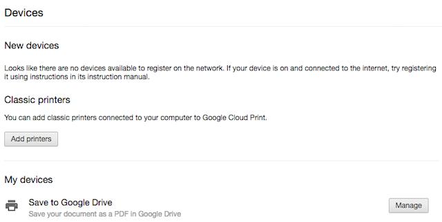 Registrare una vecchia stampante su Google Cloud Print