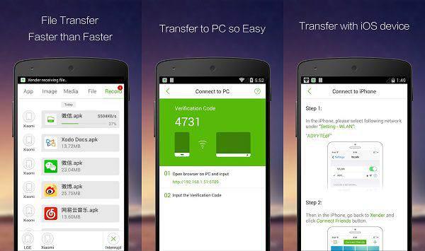 Trasferire file tra dispositivi Android con Xender