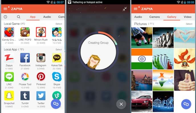 Trasferire file tra dispositivi Android con Zapya