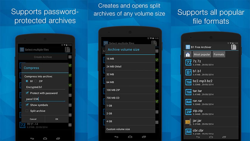 Aprire file ZIP e RAR su Android con B1 Archiver