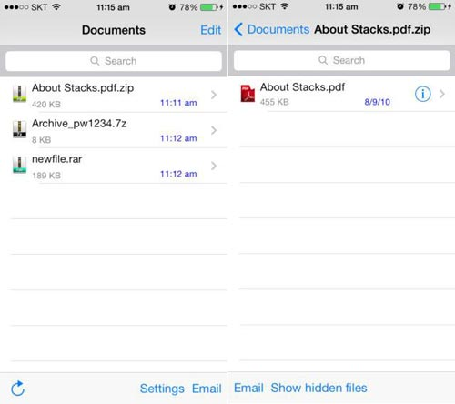 Aprire file ZIP e RAR su iPhone e iPad con Zip Browser
