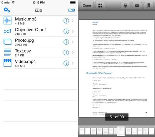 Aprire file ZIP e RAR su iPhone e iPad con Zip-RAR File Extractor