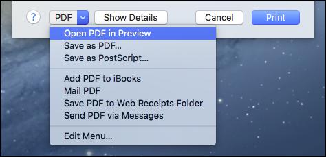 Come Creare un File PDF su Mac - Anteprima di stampa