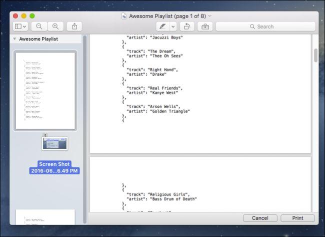 Come Creare un File PDF su Mac - Codice anteprima di stampa
