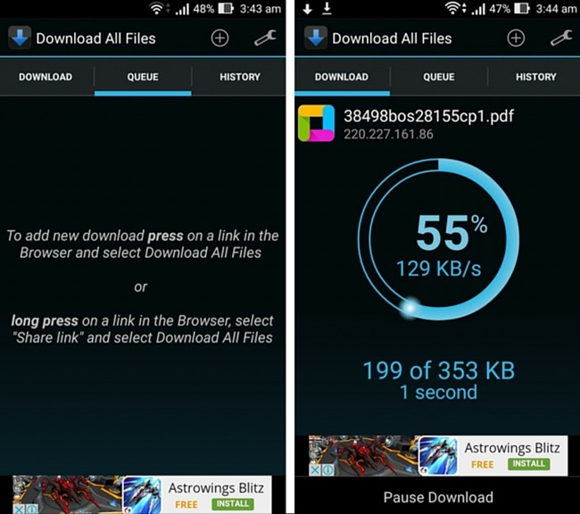 I migliori download manager per Android - Download All Files