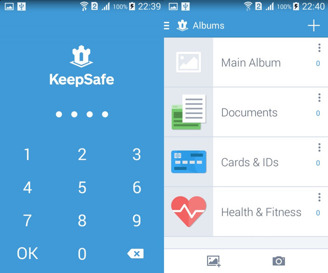 Nascondere Foto e Video su Android con KeepSafe Vault