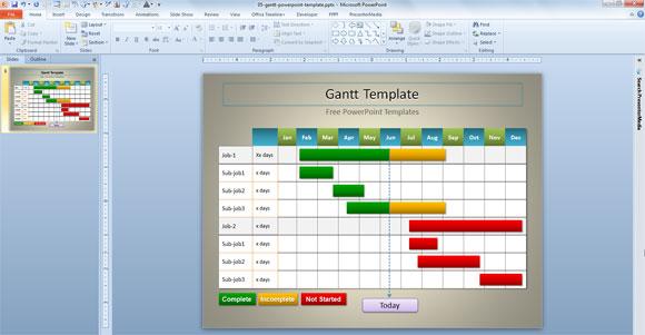 Template PowerPoint Gratis per la Presentazione di Progetti - Gantt Chart Template