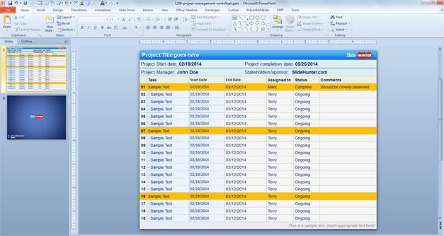 Template PowerPoint Gratis per la Presentazione di Progetti - Project Plan Template