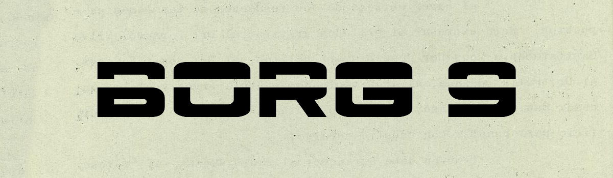 15 Font Sci-Fi e Futuristici da Scaricare Gratis - Borg 9