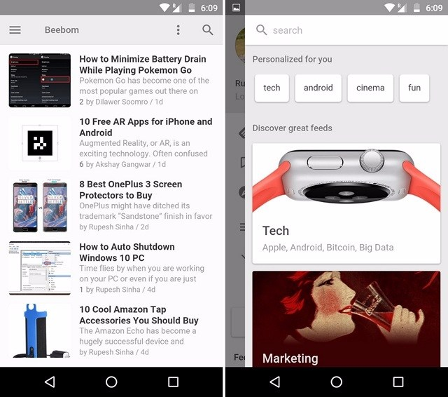 Le Migliori 5 App RSS Reader per Android - Feedly