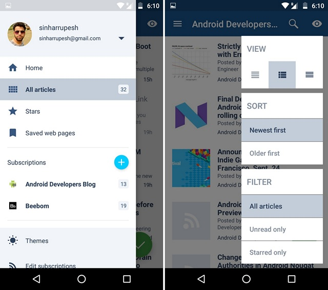 Le Migliori 5 App RSS Reader per Android - Inoreader