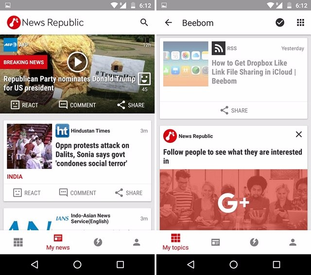 Le Migliori 5 App RSS Reader per Android - News Republic