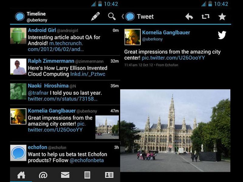 Le Migliori 5 App Twitter Gratis per Android - Echofon