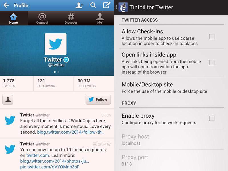 Le Migliori 5 App Twitter Gratis per Android - Tinfoil