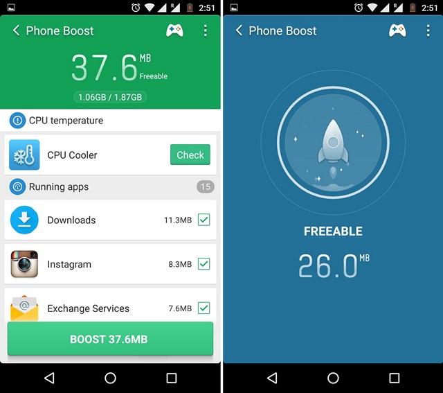 Liberare la RAM su Android - Clean Master