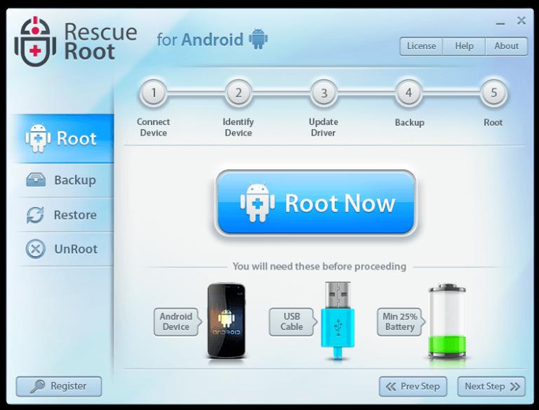 Migliori Software per Togliere il Root su Android - Rescue Root