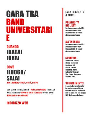 Modello n.2 di Volantini Pubblicitari in Word e PowerPoint