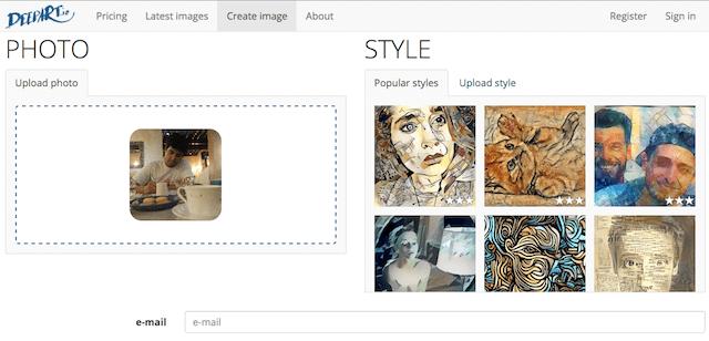 App Gratis per Trasformare Foto in Dipinti - DeepArt