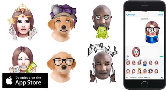 App Gratis per Trasformare i Selfie in Emojis, Adesivi e Musica - Emojiface