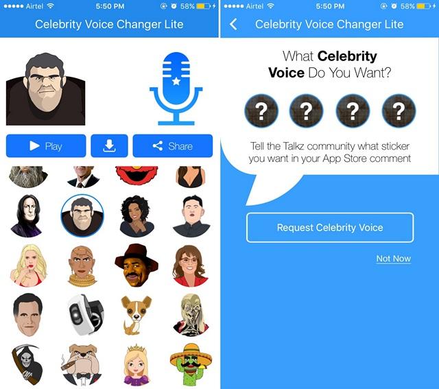 App per Cambiare Voce per Android e iOS - Celebrity Voice Changer