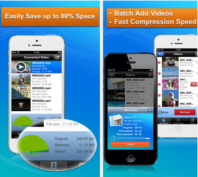 App per Comprimere Video su iPhone e Android - iPhone Video Compressor