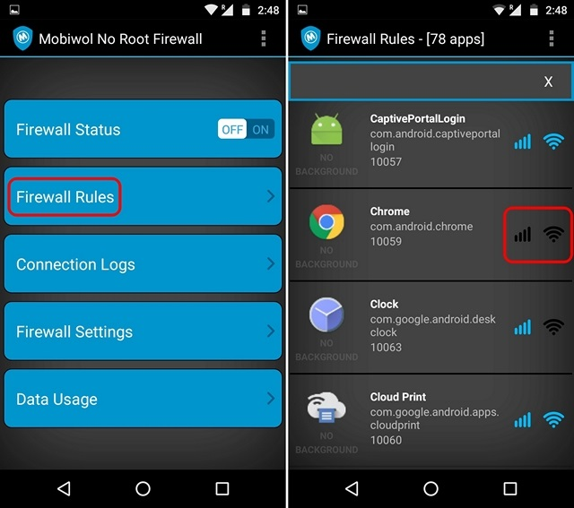 Come Bloccare l'Accesso ad Internet a Specifiche App su Android - Mobiwol