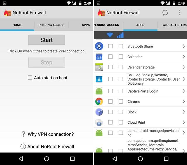 Come Bloccare l'Accesso ad Internet a Specifiche App su Android - NoRoot Firewall