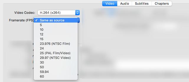 Come Ridurre la Dimensione dei Video Senza Perdita di Qualità - Frame rate