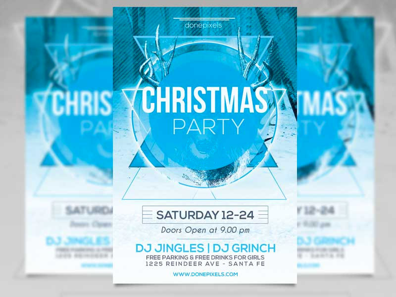 Template per Flyer in PSD da Scaricare Gratis - Christmas